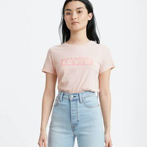 Levi's Logo Pink Perfect Graphic T-shirt Tee M